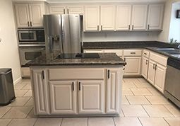 kitchen cabinet painting by Universal Painting Contractors, Inc. Fairfield, CA