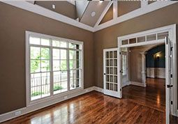 crown molding and baseboard trim
