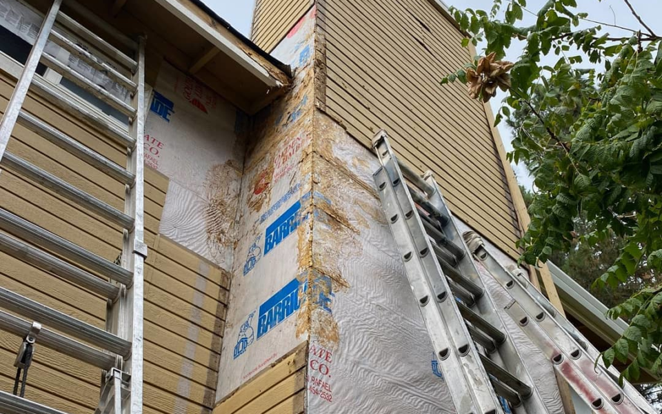 wood rot repair by Universal Painting Contractors, Inc.